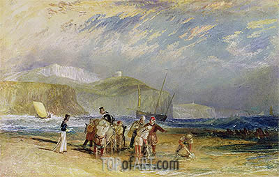 J. M. W. Turner | Folkestone Harbour and Coast to Devon, c.1830
