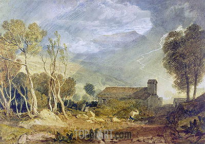Patterdale Old Church, c.1810/15 | J. M. W. Turner| Painting Reproduction