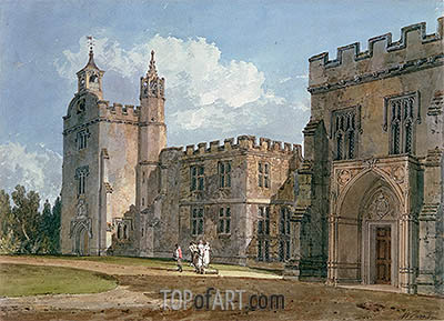 The Bishop's Palace, Salisbury, c.1795 | J. M. W. Turner | Gemälde Reproduktion