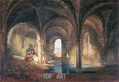 Refectory of Kirkstall Abbey, c.1798 | J. M. W. Turner| Gemälde Reproduktion