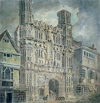 Christchurch Gate, Canterbury, c.1792/93 | J. M. W. Turner| Gemälde Reproduktion