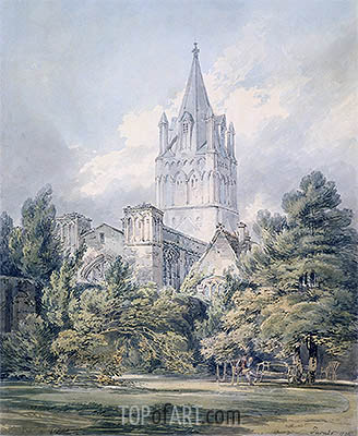 Christ Church, Oxford, 1794 | J. M. W. Turner| Gemälde Reproduktion