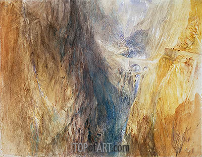 The Devil's Bridge, St. Gotthard, c.1841 | J. M. W. Turner| Painting Reproduction