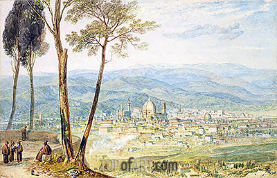 Florence from the Road to Fiesole, undated | J. M. W. Turner| Painting Reproduction