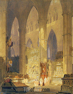 Caen Cathedral, undated | J. M. W. Turner| Painting Reproduction
