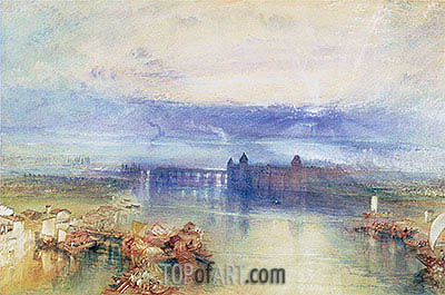 Lake Constance, undated | J. M. W. Turner| Painting Reproduction