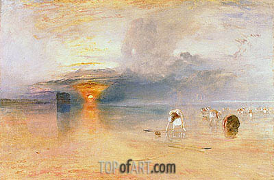 J. M. W. Turner | Calais Sands at Low Water, Poissards Gathering Bait, 1830