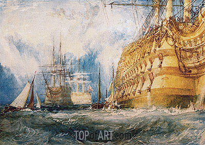 A First Rate Taking In Stores, 1818 | J. M. W. Turner | Painting Reproduction