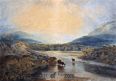 J. M. W. Turner | Abergavenny Bridge, Monmouthshire: Clearing Up After a Showery Day, undated