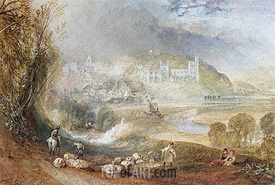 Arundel Castle and Town, c.1824 | J. M. W. Turner | Gemälde Reproduktion