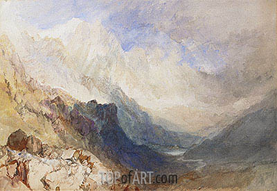 A Scene in the Val d'Aosta, undated | J. M. W. Turner | Painting Reproduction