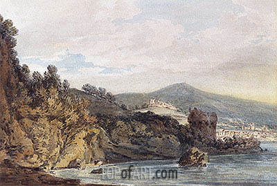 The Coast Under Vietri, near Salerno, undated | J. M. W. Turner| Painting Reproduction