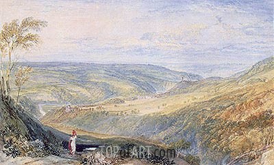 Gibside, County Durham from the South, undated | J. M. W. Turner | Painting Reproduction