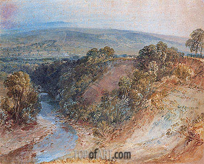J. M. W. Turner | Valley of the Washburn, 1818