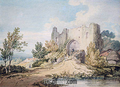 Llanblethian Castle Gateway, 1797 | J. M. W. Turner| Painting Reproduction