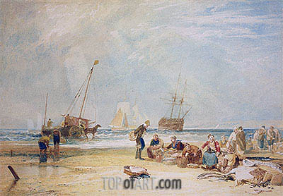 Fishmarket on the Sands, Hastings, undated | J. M. W. Turner | Painting Reproduction