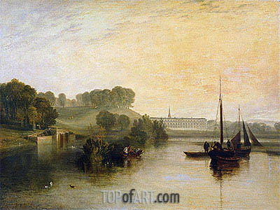 Petworth, Sussex, the Seat of the Earl of Egremont: Dewy Morning, 1810 | J. M. W. Turner | Painting Reproduction