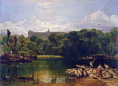 Windsor Castle from the Thames, c.1805 | J. M. W. Turner| Painting Reproduction