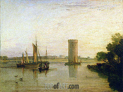Tabley, the Seat of Sir J.F. Leicester (Calm Morning), c.1809 | J. M. W. Turner | Painting Reproduction