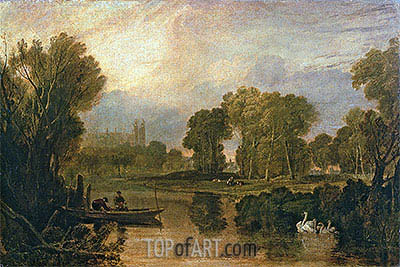 Eton College from the River (The Thames at Eton), c.1808 | J. M. W. Turner | Gemälde Reproduktion