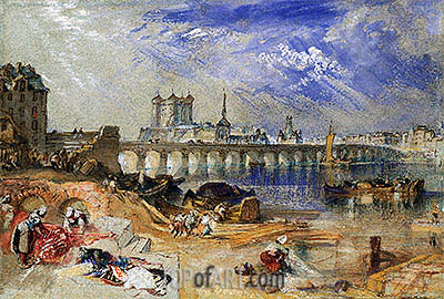 Saumur, undated | J. M. W. Turner| Painting Reproduction