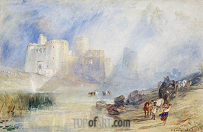Kidwelly Castle, Carmarthenshire, undated | J. M. W. Turner| Painting Reproduction