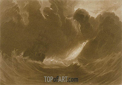 Ship in a Storm, from the (Little Liber), c.1826 | J. M. W. Turner | Painting Reproduction