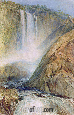 The Falls of Terni, 1817 | J. M. W. Turner| Painting Reproduction