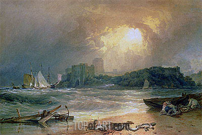 Pembroke Castle, undated | J. M. W. Turner| Painting Reproduction