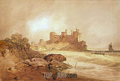 J. M. W. Turner | Conway Castle, North Wales, c.1800