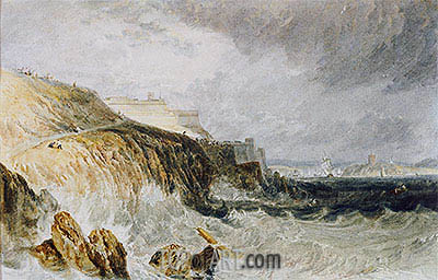 J. M. W. Turner | Plymouth Citadel, a Gale, 1815