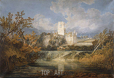 Kirkstall Abbey, Yorkshire, 1797 | J. M. W. Turner| Painting Reproduction