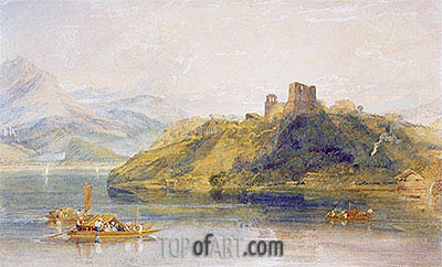 Chateau de Rinkenberg on the Lac de Brienz, Switzerland, 1809 | J. M. W. Turner | Painting Reproduction
