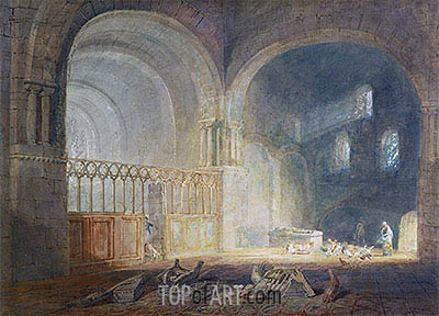 Transept of Ewenny Priory, Glamorganshire, c.1797 | J. M. W. Turner | Painting Reproduction
