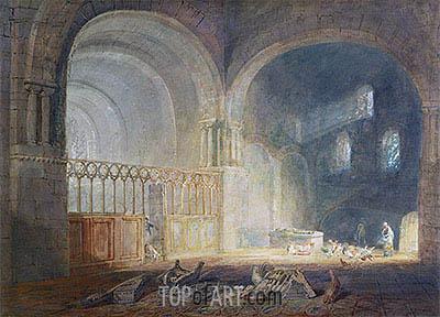 J. M. W. Turner | Transept of Ewenny Priory, Glamorganshire, c.1797