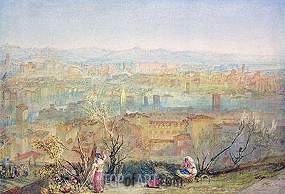 Rome from San Pietro, undated | J. M. W. Turner| Painting Reproduction