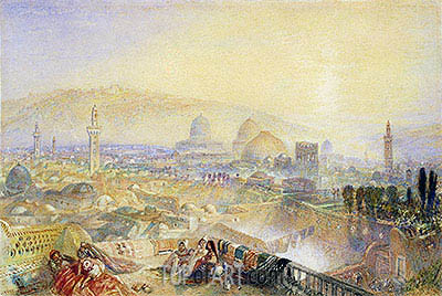 Jerusalem from the Latin Convent, undated | J. M. W. Turner | Painting Reproduction