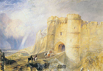 Carisbrook Castle, Isle of Wight, undated | J. M. W. Turner| Painting Reproduction