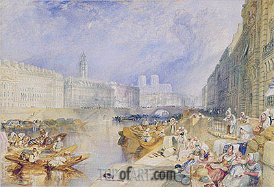 Nantes, undated | J. M. W. Turner| Painting Reproduction