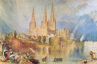 Lichfield, c.1830/35 | J. M. W. Turner | Painting Reproduction