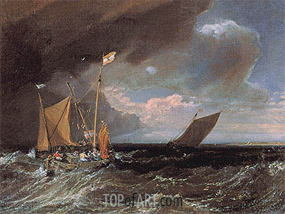 Seascape with a Squall Coming Up, c.1803 | J. M. W. Turner| Painting Reproduction