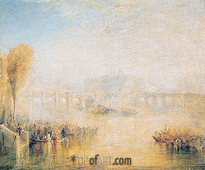 View of the Pont Neuf, Paris, undated | J. M. W. Turner| Gemälde Reproduktion