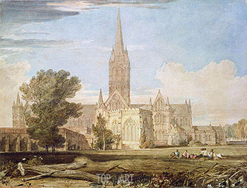 South View of Salisbury Cathedral, undated | J. M. W. Turner | Painting Reproduction