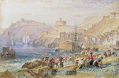 St. Mawes, Cornwall, c.1823 | J. M. W. Turner| Painting Reproduction