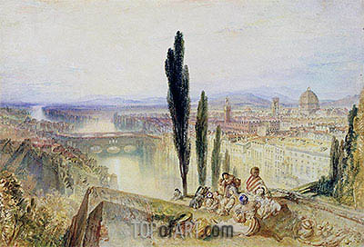 Florence, c.1827 | J. M. W. Turner | Painting Reproduction