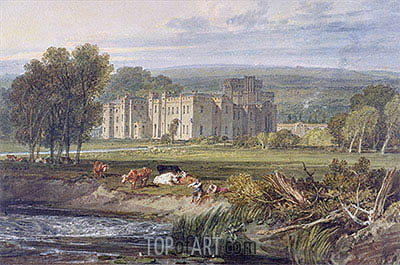View of Hampton Court, Herefordshire, c.1806 | J. M. W. Turner| Painting Reproduction