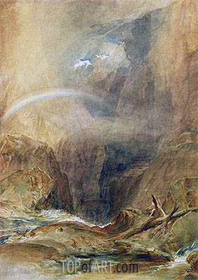 Devil's Bridge, St. Gotthard's Pass, c.1804 | J. M. W. Turner | Painting Reproduction
