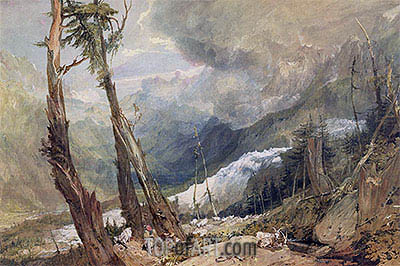 Mere de Glace in the Valley of Chamouni, Switzerland, 1803 | J. M. W. Turner | Painting Reproduction