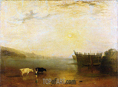 Teignmouth Harbour, c.1812 | J. M. W. Turner| Painting Reproduction
