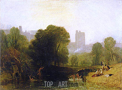 Near the Thames Lock, Windsor, c.1809 | J. M. W. Turner | Painting Reproduction